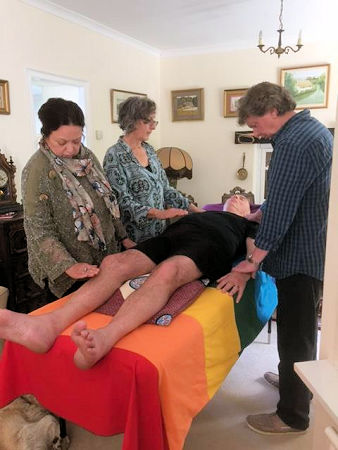 image of reiki healing in progress in cornwall